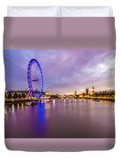 London At Night Duvet Cover