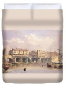 London Bridge, 1835 Duvet Cover