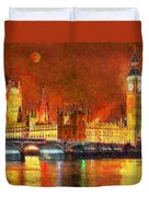 London By Night Duvet Cover