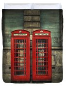 London Calling Duvet Cover by Evelina Kremsdorf