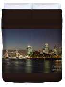 London City And Tower Bridge Duvet Cover