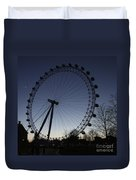 London Eye And New Moon Duvet Cover