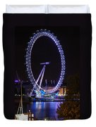 London Eye By Night Duvet Cover