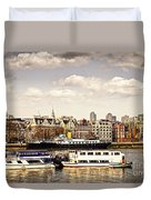London From Thames River Duvet Cover