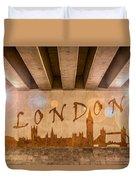 London Graffiti Skyline Duvet Cover
