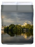 London - Illuminated And Reflected Duvet Cover