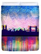 London In Blue  Duvet Cover