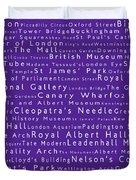 London In Words Purple Duvet Cover