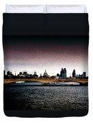 London Over The Waterloo Bridge Duvet Cover