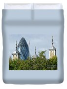 London Towers Duvet Cover by Ann Horn