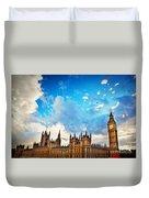 London Uk Big Ben The Palace Of Westminster Duvet Cover