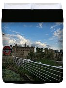 London Underground And The Tower Of London Duvet Cover