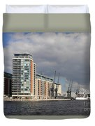 London Victoria Dock Duvet Cover