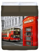London With A Touch Of Colour Duvet Cover