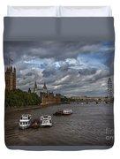 London's Thames River Duvet Cover