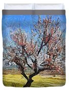 Lone Almond Tree In Bloom Duvet Cover