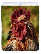Lone Farm Rooster Portrait Duvet Cover