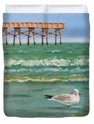 Lone Gull A-piers Duvet Cover