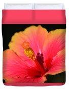 Lone Hibiscus Duvet Cover