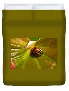 Lone Lady Bird Beetle Duvet Cover