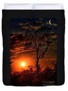 Lone Manzanita Sunset Duvet Cover