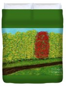 Lone Maple Among The Ashes Duvet Cover