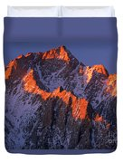 Lone Pine Peak - February Duvet Cover