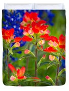 Lone Star Blooms Duvet Cover