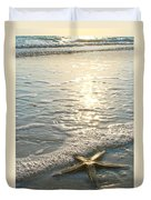 Lone Star On Lovers Key Beach Duvet Cover by Olivia Novak