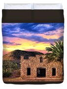 Lone Star Sunset Duvet Cover