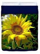 Lone Sunflower Duvet Cover