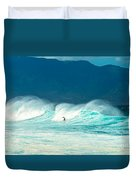 Lone Surfer Duvet Cover