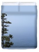 Lone Tree By The Water In Acadia National Park Duvet Cover