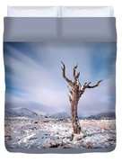 Lone Tree In The Snow Duvet Cover