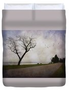 Lone Tree In Winter Duvet Cover