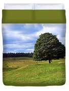 Lone Tree On Grassy Knoll Duvet Cover