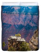Lone Tree On Outcrop Grand Canyon Duvet Cover