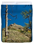 Lone Tree On The Mountain Duvet Cover