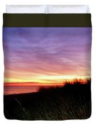 Lonely Beach At Sunrise Norfolk Va Duvet Cover