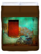 Lonely Bicycle Duvet Cover