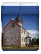 Lonely East Point Lighthouse Duvet Cover