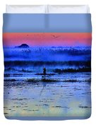 Lonely Fisher Duvet Cover