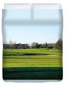 Lonely Golfer Duvet Cover