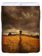 Lonely House On The Hill Duvet Cover