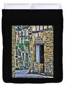 Lonely Lane In Sarlat France Duvet Cover