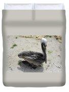 Lonely Pelican Duvet Cover