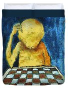Lonesome Chess Player Duvet Cover