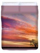 Lonesome Tree Sunrise Duvet Cover