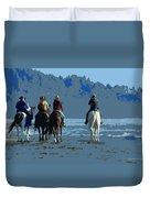 Long Beach Horses Study Duvet Cover