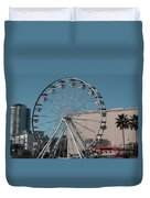 Long Beach In Technicolor Duvet Cover